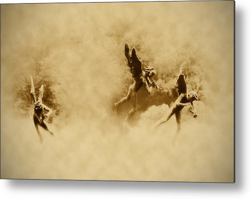Angels Metal Print featuring the photograph Song Of The Angels In Sepia by Bill Cannon