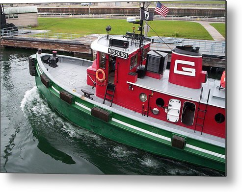 Tugboat Metal Print featuring the photograph Soo Tug Boat by Jennifer Englehardt
