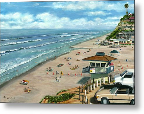 South On Moonlight Metal Print featuring the painting South On Moonlight by Lisa Reinhardt