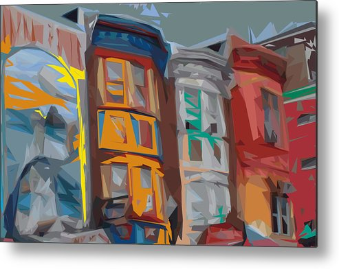 Philadelphia Metal Print featuring the digital art South Street Revisited by Kevin Sherf