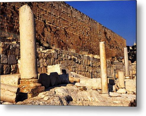 Israel Metal Print featuring the photograph Southern Temple Mount Jerusalem by Thomas R Fletcher
