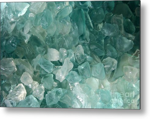 Sea Glass Teal White Ocean Metal Print featuring the photograph Splash by Kristine Nora