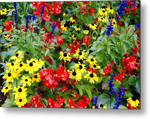 Floral Metal Print featuring the photograph Spring Bouquet by Sonja Anderson