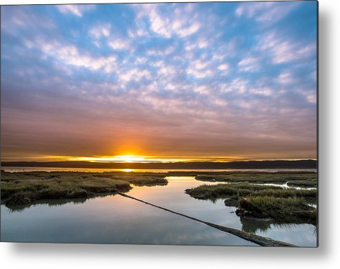 Humboldt Bay Metal Print featuring the photograph Spring Sunrise On Arcata Bay by Greg Nyquist