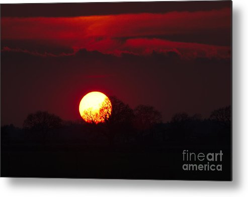 St James Lake Metal Print featuring the photograph Spring Sunset by Jeremy Hayden