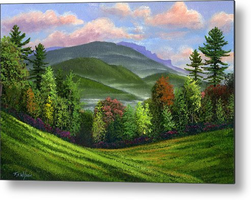 Landscape Metal Print featuring the painting Spring Time by Frank Wilson
