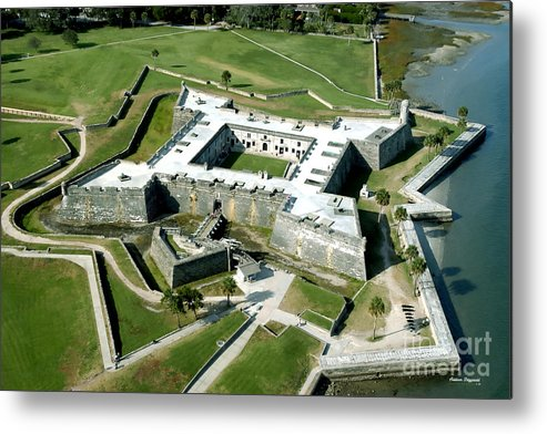 St Augustine Metal Print featuring the painting St Augustine Fort - Castillo De San Marcos by Addison Fitzgerald