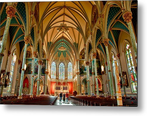 St John The Baptist Metal Print featuring the photograph St John The Baptist Catholic Cathedral - Savannah by Gary Little