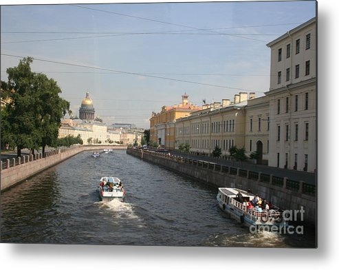 Canal Metal Print featuring the photograph St. Petersburg Canal - Russia by Christiane Schulze Art And Photography