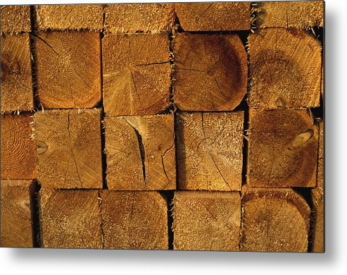 Group Metal Print featuring the photograph Stack Of Logs by David Chapman