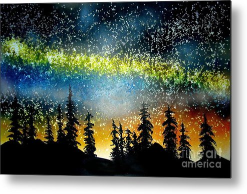 Stars Metal Print featuring the mixed media Starry Starry Night by Ed Moore