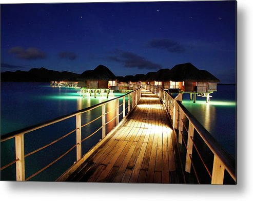 Tahiti Metal Print featuring the photograph Stars Over Bungalows by Dan Peak