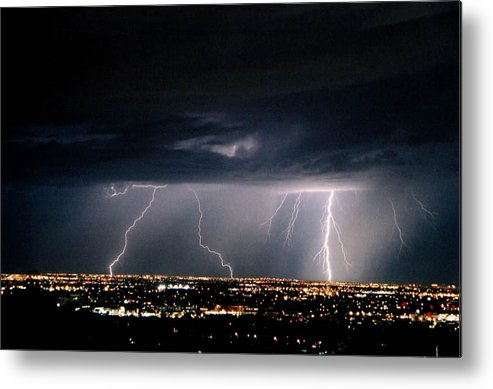 Lightning Metal Print featuring the photograph Steppin' Out by Cathy Franklin