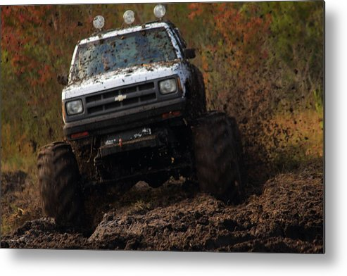 Chevy Pick-up Metal Print featuring the photograph Stomping by Jamie Smith
