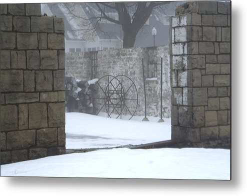 Winter Metal Print featuring the photograph Stone Cellar by Tim Nyberg