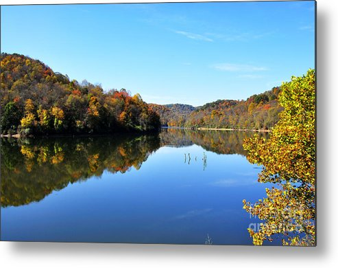 Autumn Metal Print featuring the photograph Stonecoal Lake In Autumn Color by Thomas R Fletcher