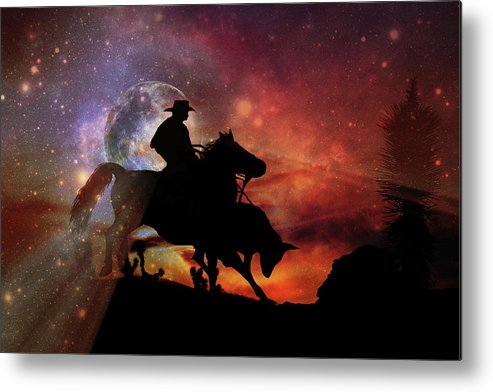 Red Metal Print featuring the photograph Stopping Power by Stephanie Laird