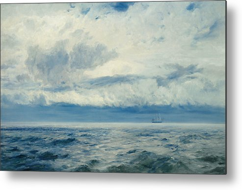 Storm Metal Print featuring the painting Storm Brewing by Henry Moore