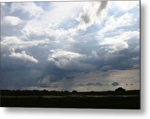 Botswana Metal Print featuring the photograph Storm Clouds by Linda Russell