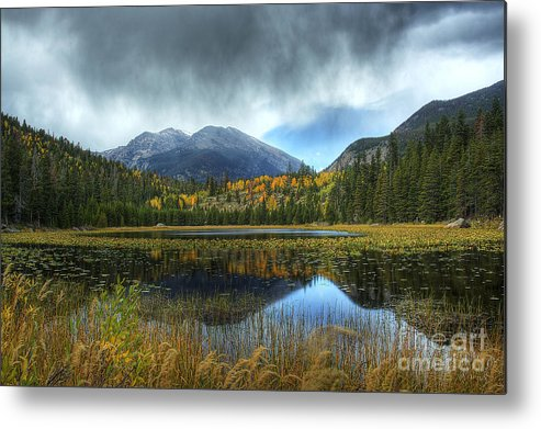 Nature Metal Print featuring the photograph Storm Over Cub Lake by Pete Hellmann