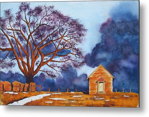 Storm Metal Print featuring the painting Stormy Afternoon by Ally Benbrook