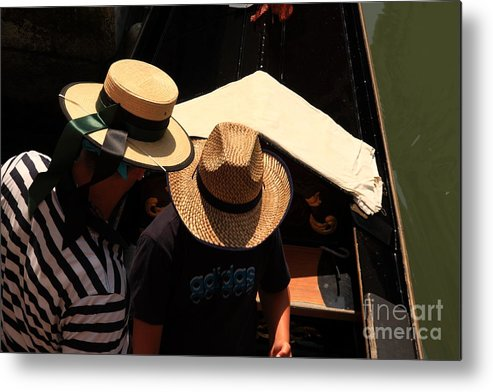 Venice Metal Print featuring the photograph Straw Hats In Venice by Michael Henderson
