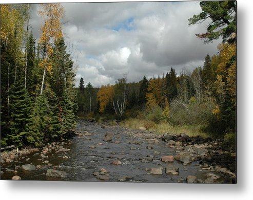 Nature Metal Print featuring the photograph Stream At Tettegouche State Park by Kathy Schumann