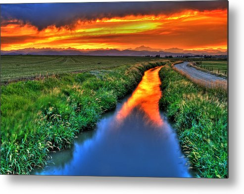 Colorado Metal Print featuring the photograph Stream Of Light by Scott Mahon