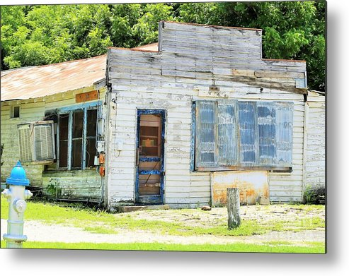 Landscape.building.blue Metal Print featuring the photograph Street Legal by Jeff Downs