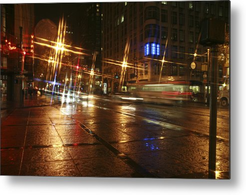Night Metal Print featuring the photograph Streets by Wes Shinn