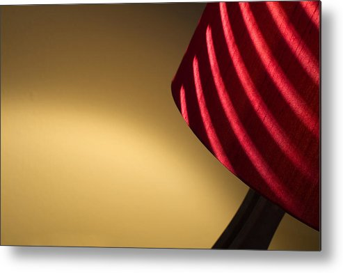 Lamp Metal Print featuring the photograph Striped Light by Rebecca Cozart