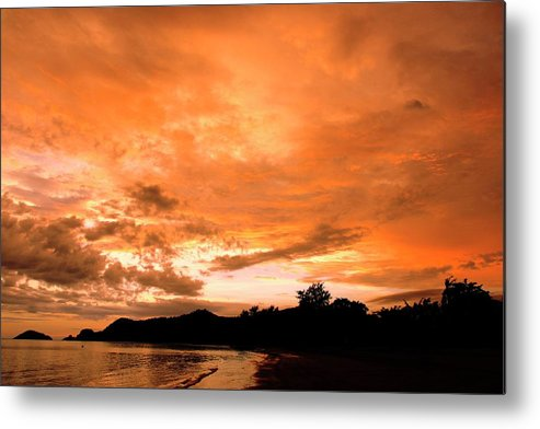 Tropical Metal Print featuring the photograph Stunning Tropical Sunset by Oleg Ver