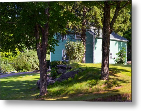 Garden Metal Print featuring the painting Suburban House by Jeelan Clark