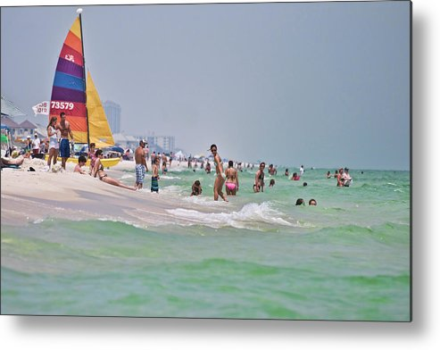 America Metal Print featuring the photograph Summers Day On Pensacola Beach by Ray Devlin