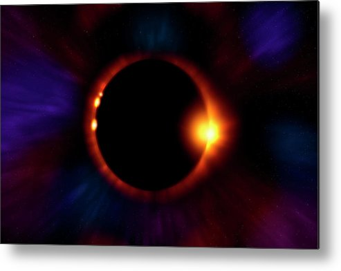 Eclipse Metal Print featuring the photograph Sun Fire by Mark Andrew Thomas