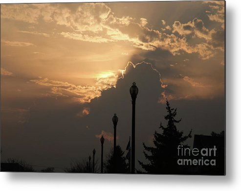 Sun Metal Print featuring the photograph Sun In A Cloud Of Glory by Andee Design