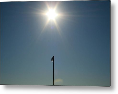 Sun Metal Print featuring the photograph Sun Post by Joshua Sunday