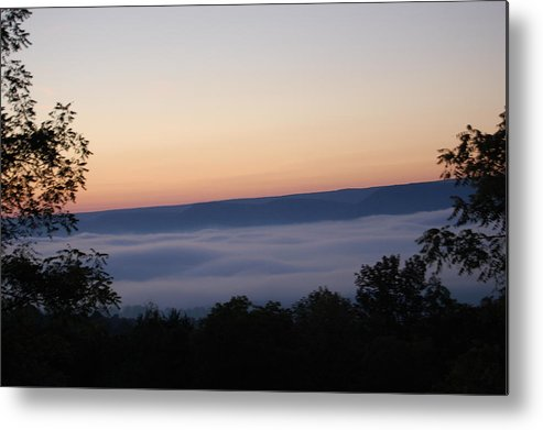 Sun Metal Print featuring the photograph Sun Rise With Fog In The Valley by Richard Botts