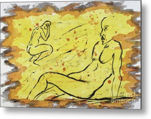 Sunbath Metal Print featuring the painting Sunbathing Time by Erwin Bruegger