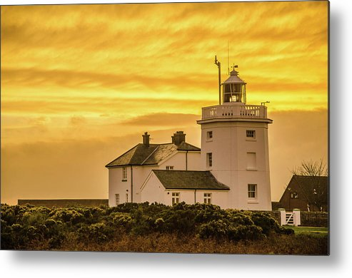 Lighthouse Metal Print featuring the photograph Sundown At The Lighthouse by Anthony Black