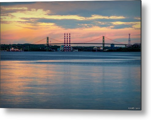 Bedford Metal Print featuring the photograph Sunset On The A Murray Mackay by Ken Morris