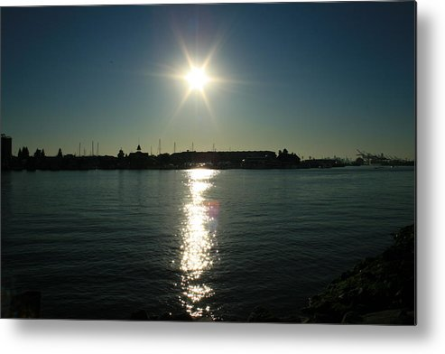 Sun Metal Print featuring the photograph Sunlight On The Water by Joshua Sunday