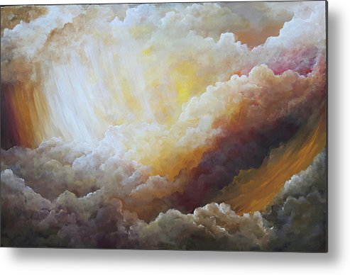 Clouds Metal Print featuring the painting Sunny Side Of Life by Jacquie Potvin Boucher