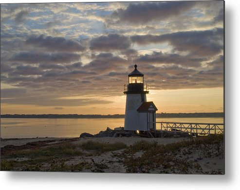 Krauzyk Metal Print featuring the photograph Sunrise At Brant Point Nantucket by Henry Krauzyk