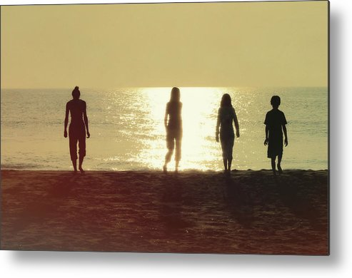 Beach Metal Print featuring the photograph Sunrise Strolling by JAMART Photography