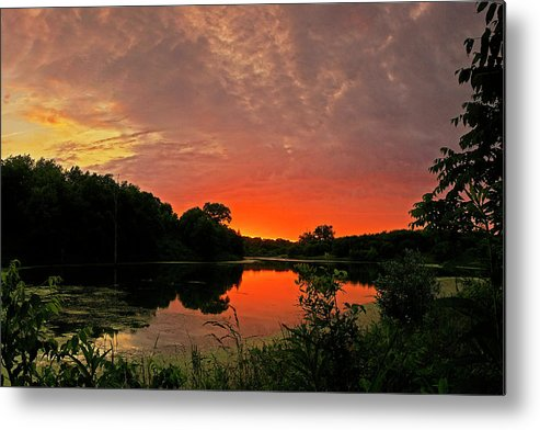 Sunset Metal Print featuring the photograph Sunset After The Storm by Ulrich Burkhalter