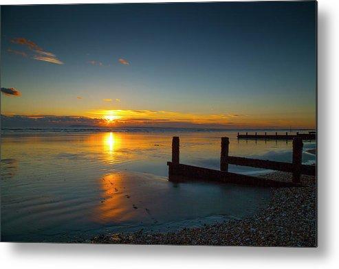 Beasch Metal Print featuring the photograph Sunset At Brackesham Bay ,west Sussex ,england by Philip Enticknap