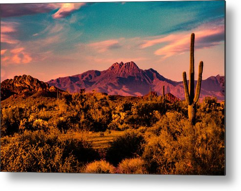 Arizona Metal Print featuring the photograph Sunset At Four Peaks by Paul LeSage