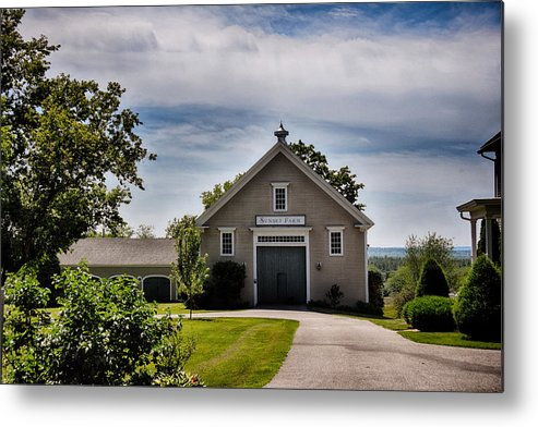 Nature Metal Print featuring the photograph Sunset Farm by Tricia Marchlik