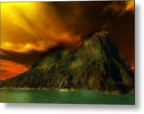 Sunset Metal Print featuring the painting Sunset In The Island by Emma Alvarez